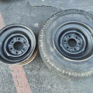 Two 14.5 inch trailer wheels. 6 on 5.5 inches for Sale in Pico Rivera, CA