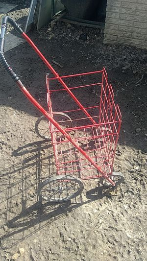 Shopping cart, senior citizen approved,folds up. Included canvas shopping bag, It'll ship. for Sale in Brown City, MI