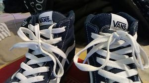 Navy Blue/White Vans . Women's size 7. Mens 6. Negotiable price for Sale in Jacksonville, NC