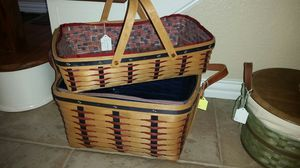 Longaberger Proudly American washday and medium gathering for Sale in Mansfield, TX