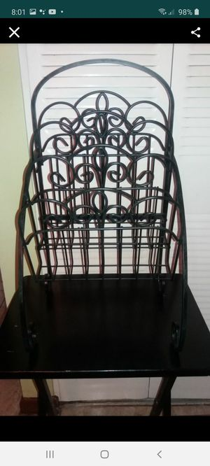 Beautiful black metal magazine holder. for Sale in West Palm Beach, FL