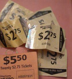 25 Bus Passes for Sale in Everett,  WA