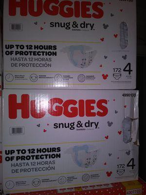 HuGGies snug dry size 4 $ 40 por caja oh cambio por formula Enfamil 12 0z for Sale in Los Angeles, CA