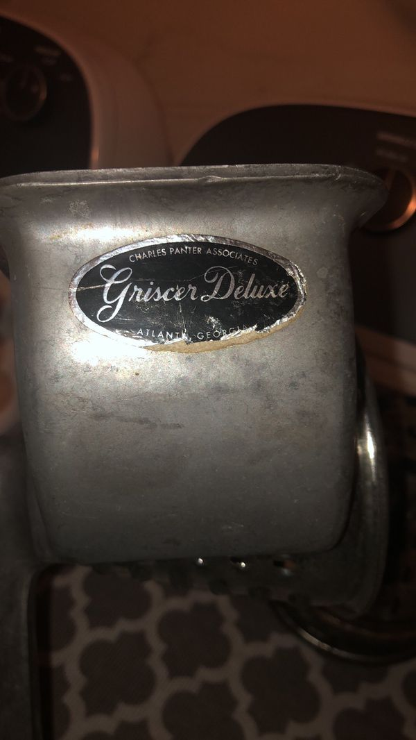 "VINTAGE Griscer Deluxe ""The Original"" All-Purpose Food Cutter** WITH 3 CONES"