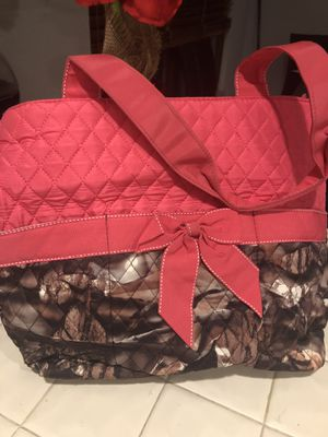 Pink Camo diaper baby bag tote for Sale in Jacksonville, FL