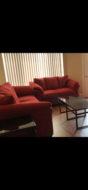 Clean Ashley Darcy sofa and loveseat with 3 coffee tables for Sale in Morgantown, WV