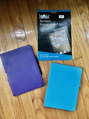 10 inch Tablet Covers (Blue and Purple) and Screen Protectors for Sale in Chicago, IL