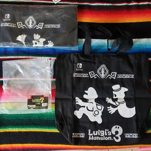 Nintendo Switch Luigi's Mansion 3 Pre-Order Exclusive Canvas Tote Bags New and Sealed for Sale in Garden Grove, CA