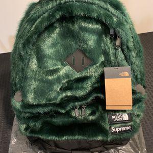 TNF & Supreme Faux Fur Book bag for Sale in Woodbridge Township, NJ