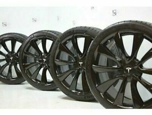"20"" Tesla Model 3 Factory 20 Wheels OEM Rims New Take Offs BLACK for Sale in Solana Beach, CA"