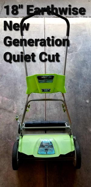 """Earthwise 18"""" New Generation Quiet Cut Lawn Mower for Sale in Las Vegas, NV"""