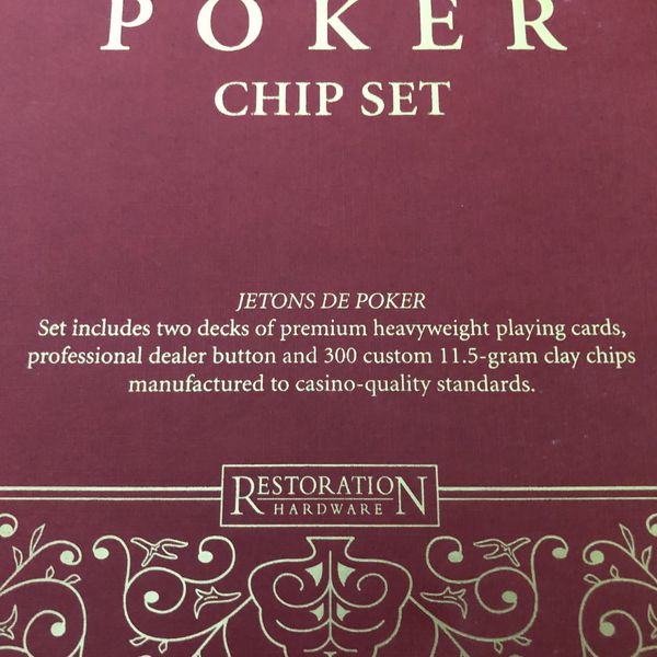 Brand New Restoration Hardware Poker Set