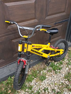 RARE Hummer H16 Kids Special Edition 16 Inch Bike Bicycle Yellow Front Shocks HEAVY DUTY .OFF ROAD for Sale in Douglasville, GA