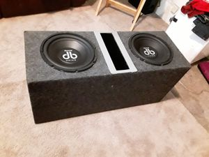 DB 10in subs in box for Sale in San Antonio, TX