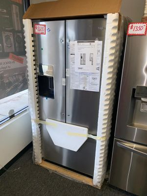 """Brand new Whirlpool 36"""" Stainless steel french doors refrigerator with manufacturer warranty for Sale in Beltsville, MD"""