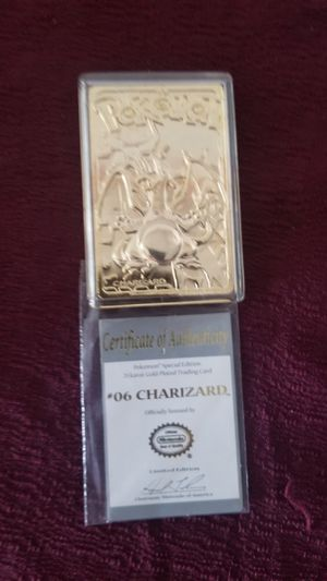 23k gold plated Pokemon cards for Sale in McKeesport, PA