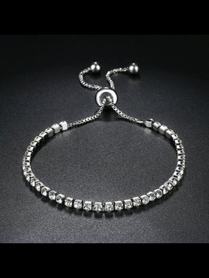 Silver jewelry cubic Zirconia adjustable bracelet 18k plated gold for Sale in Falls Church, VA