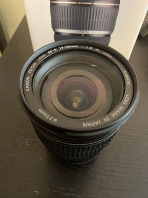 Canon 17-55 2.8 lens for Sale in Philadelphia, PA