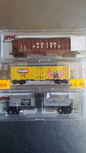 N scale trains popsicle Union Pacific caboose oil car Center Flo BNSF Santa Fe for Sale for sale  Signal Hill, CA