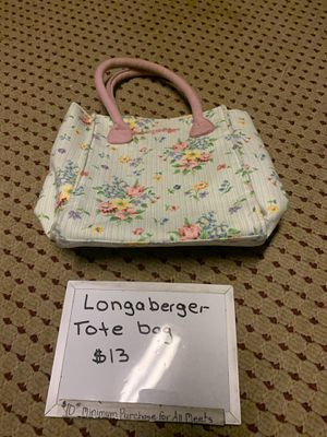 Longaberger Totes bags for Sale in Mechanicsburg, PA