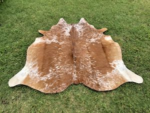 Small cowhide area rugs brown 5 ft x 4.5 ft for Sale in Duluth, GA