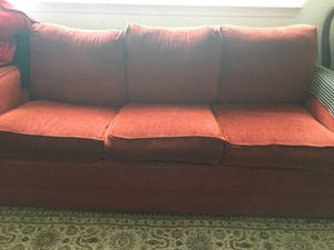 Red 3 Seater Couch for Sale in Silver Spring, MD