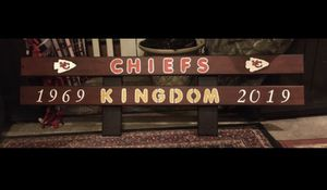 """47""""X14"""" Hand Painted Chiefs Kingdom Sign for Sale in Raymore, MO"""