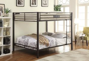 *Brand New* Acme Queen over Queen Bunk Bed, Black (Mattresses Available!) for Sale in Dublin, OH