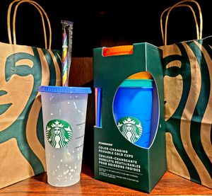 Starbucks Combo Color-Changing And Confetti Re-Usable Cups for Sale in Anaheim, CA