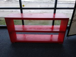 Custom painted red shelving for Sale in Detroit, MI