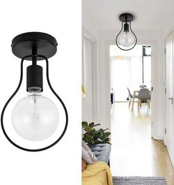 Metal Ceiling Lights Fixture Industrial Black Ceiling Lamp with Semi-Flush Mount for Sale in Katy,  TX