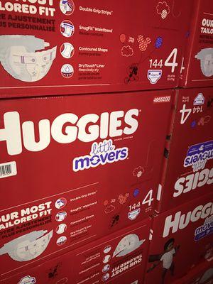 HUGGIES LITTLE MOVERS SIZE 4 $33 CADA CAJA PRECIO FIRME for Sale in Fountain Valley, CA