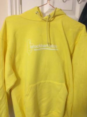 L Brockhampton Neon Yellow Hoodie (bought at concert on Love Your Parents tour) for Sale in La Vergne, TN