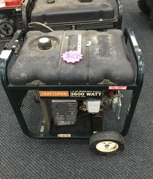 Craftsman 3600 Watt Generator for Sale in Kansas City, MO