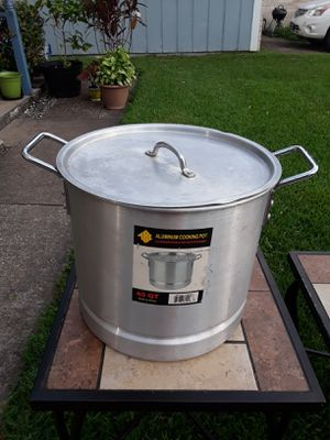 40Qt Aluminum Cook Pot Steamer with Lid for Sale in Houston, TX