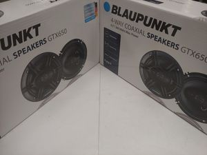 Car speakers : 2 pairs blaupunkt 6.5 inch 4 way 360 watts car speakers for Sale in Bell Gardens, CA