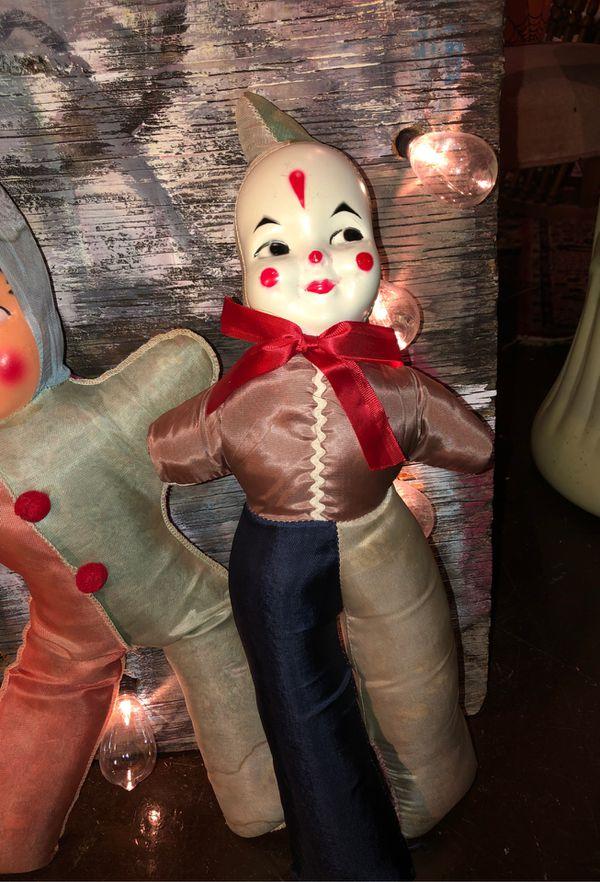 Antique Vintage 1930s 1940s 1950s Clown Doll