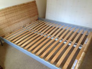 IKEA Wicker Bed Frame. Queen Size for Sale in Gaithersburg, MD