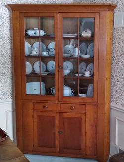 1800s Cherry Corner Cupboard Cabinet for Sale in Pittsburgh,  PA