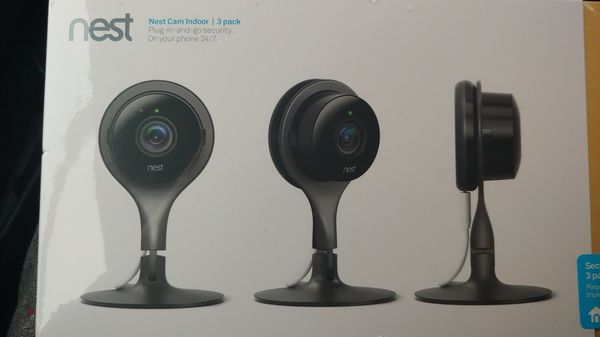 Nest cam indoor 3 pack brand new in the box never opened