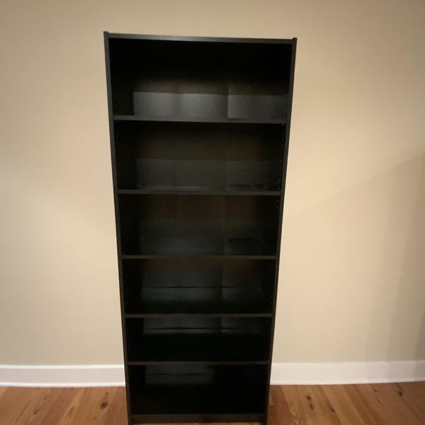 "IKEA Black Brown Billy Bookcase Shelves 31""Wx80""Hx10.5""D"