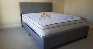 Brand new queen size platform bed frame with a mattress for Sale in Silver Spring, MD