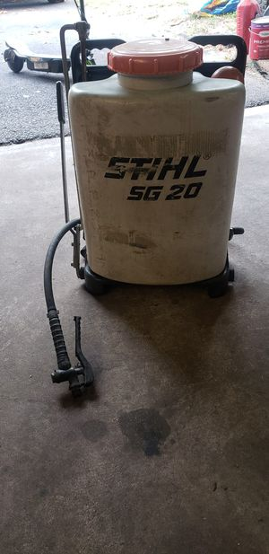 SPRAYER BACK PACK STIHL SG 20 NEEDS WAND for Sale in Pasadena, MD