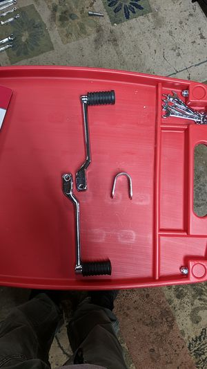 Chrome Harley Davidson heel/toe shifter w/pegs for Sale in Graham, WA