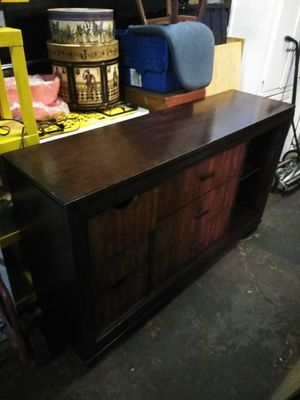 Dark Wood Dresser and Mirror for Sale in Baltimore, MD