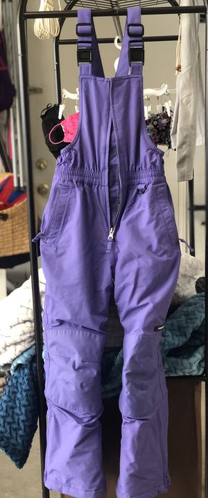 Kids Snow bib & snow boots -size 7/size 1 for Sale in Placentia, CA