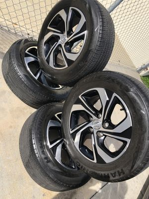 Rims and tires 16 5x114.3 for Honda acord Civic crv odisey for Sale in Santa Ana, CA