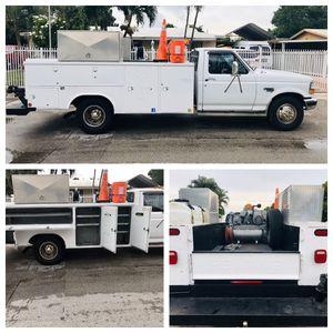 1997 Ford F-350 XL Power Stroke Diesel 7.3 Dually Work Truck, Utility Truck for Sale in Miami Gardens, FL