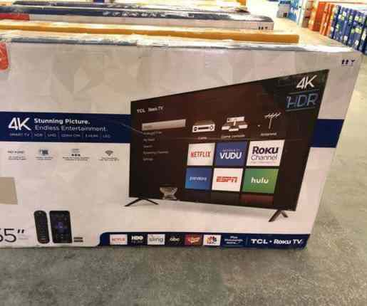 "TCL 4K 55"" smart TV ROKU! NEW OPEN BOX!! 📺📺📺📺 2JK5B"