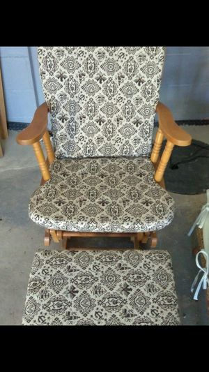 Rocking chair with foot stool for Sale in Penn Hills, PA